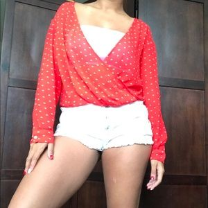 Decree red blouse